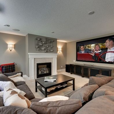 Comfy Basement With Projector For The Home Pinterest Basements Media Room Design And Room