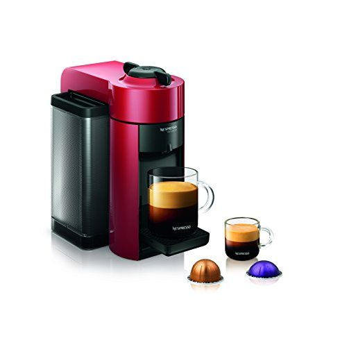Nespresso GCC1-US-RE-NE VertuoLine Evoluo Coffee and Espresso Maker, Red *** Check this useful article by going to the link at the image. #EspressoMachineCoffeemaker