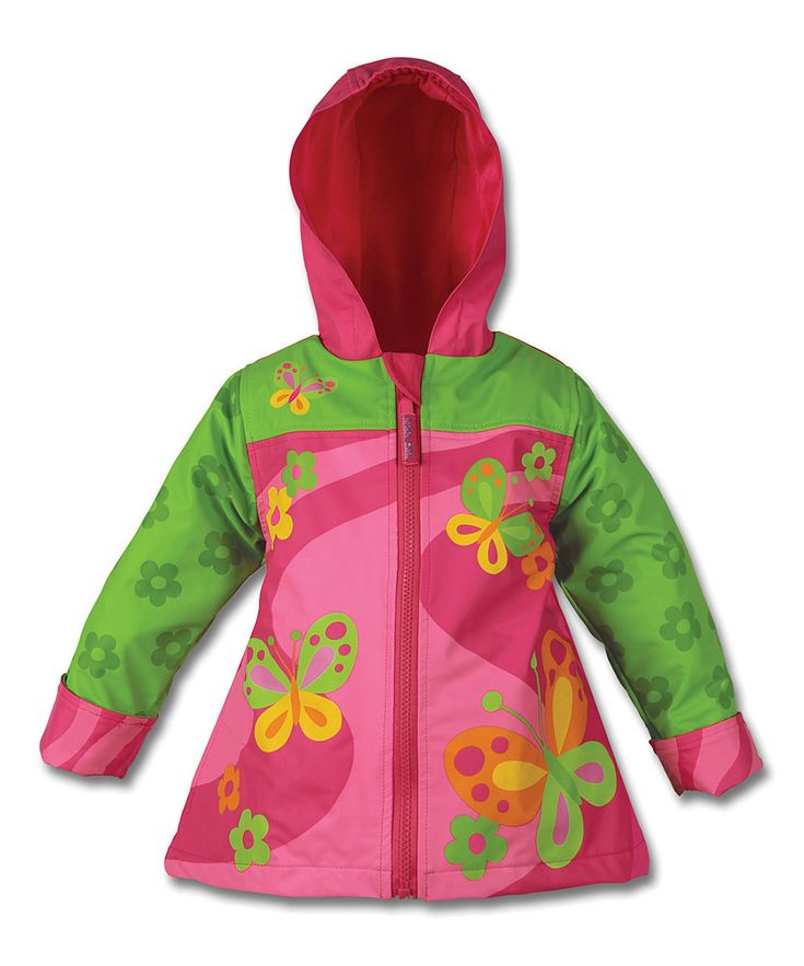 Pink Butterfly Raincoat - Toddler & Girls