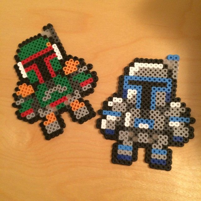 Jango and Boba Fett - Star Wars perler beads by Bird and Bicycle