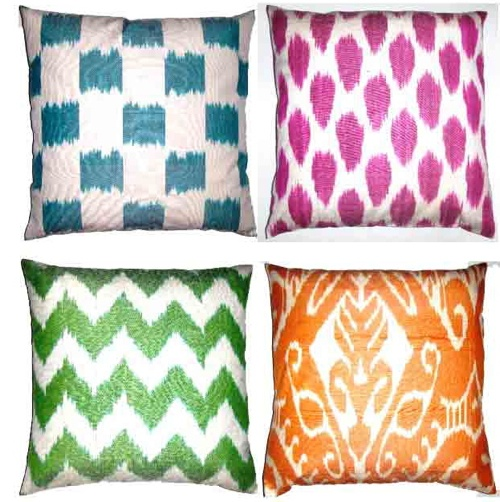 ikat pillows from