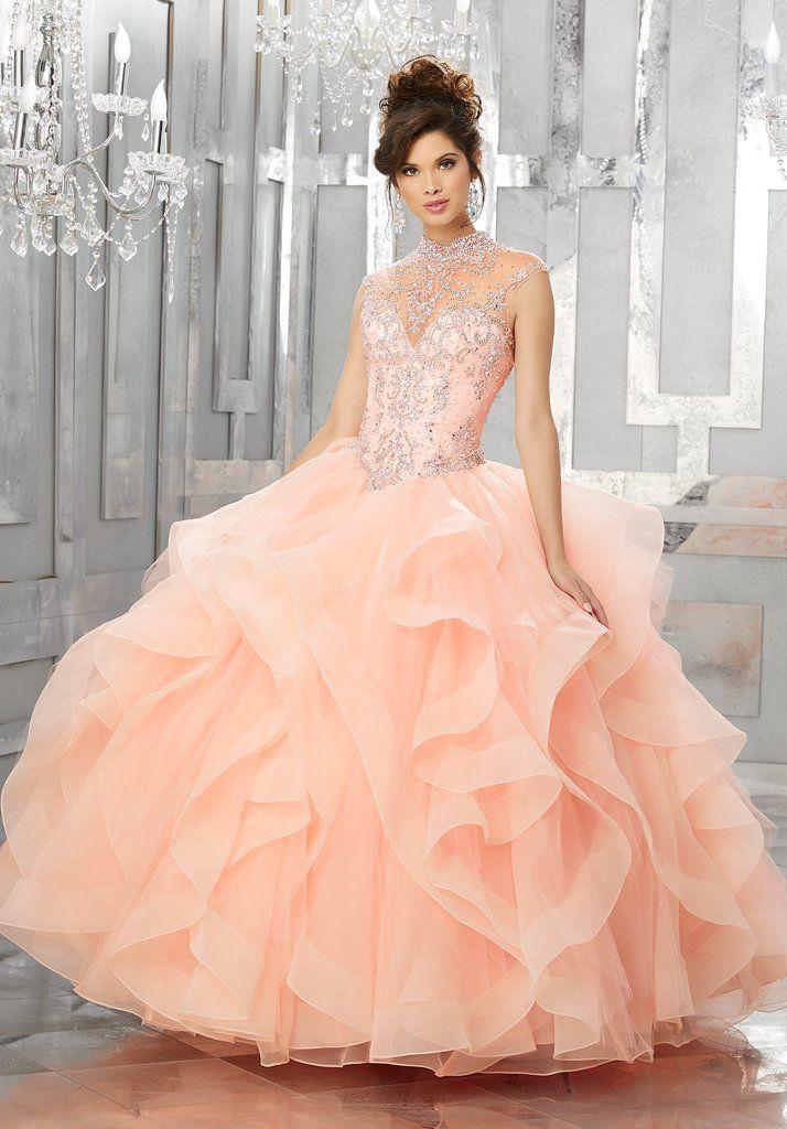 a07d6c2692e Beaded Illusion Quinceanera Dress by Mori Lee Vizcaya 89155-Mori Lee Vizcaya-ABC  Fashion