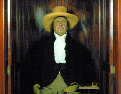jeremy bentham's auto-icon (unfortunately no longer displayed with real head), london