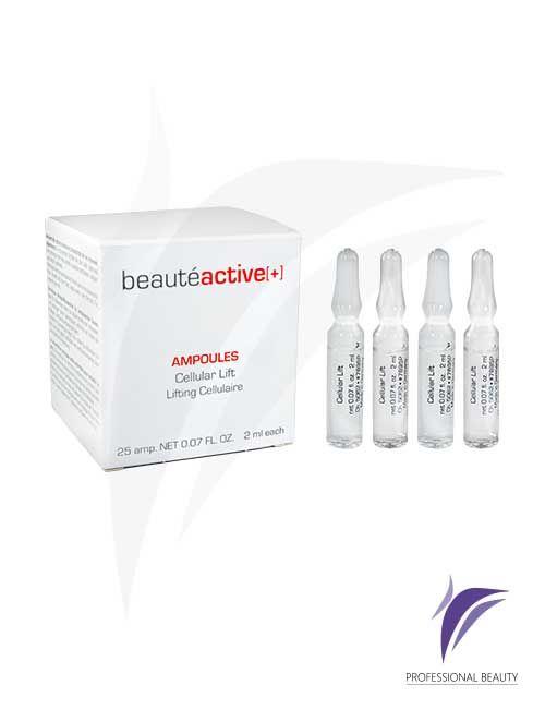 Lifting Celular Caja x25 Ampolletas de 2ml: El lifting celular es un producto con sustancias activas concentradas que promueven la regeneración de colágeno y elastina lo cual permite una reafirmación cutánea. Recomendado para pieles maduras y envejecidas.