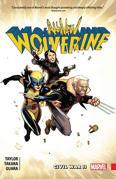 All-New Wolverine Vol. 2 – Civil War II (2016) // Laura Kinney's greatest battle so far has been fought, and won — but at what cost? As she and Gabby attempt to move on with their lives, her predecessor's legacy continues to cast a long shadow. Laura is the Wolverine, but is she ready to meet this reality's new arrival, Old Man Logan? #all #new #wolverine #old #man #logan #marvel #comics