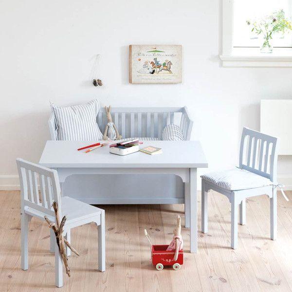 Oliver Furniture børnestol, grå