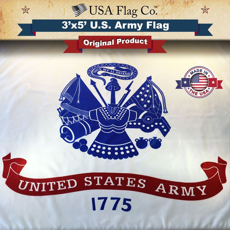 This United States Army Flag makes an excellent gift for friends, parents or to PROUDLY display on your HOME or OFFICE. | https://www.usaflagco.com/products/us-army-flag