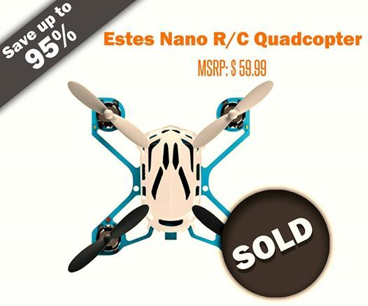 Congratulations to wonone for participating and #winning Estes Nano R/C #Quadcopter worth 59.99 at $0.97! Register today to participate and bid on live #auctions - https://nutbid.com/
