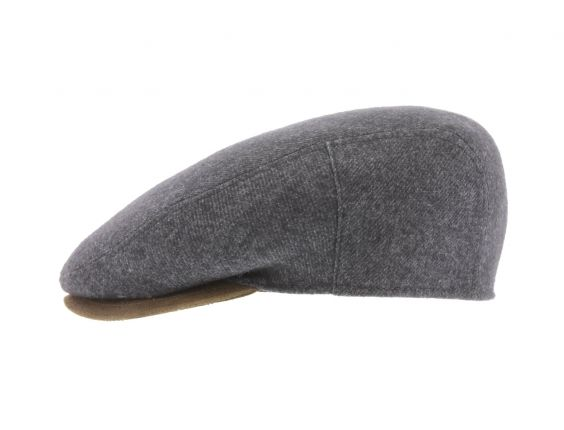 Casquette plate Herman uni Anthracite #chapeau #fashionweek #mode #chic #homme
