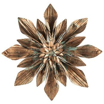 Copper & Turquoise Flower Metal Wall Decor | Hobby Lobby