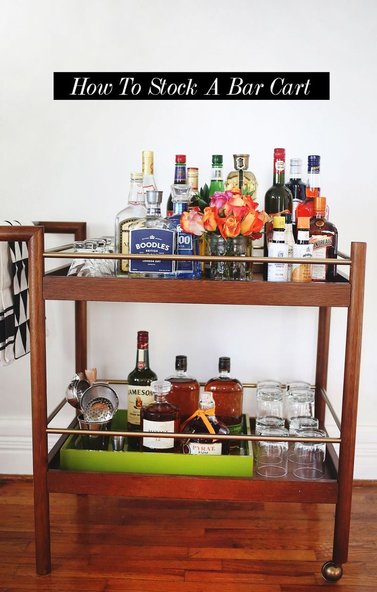 How To Stock A Bar Cart From Scratch, By Budget Part 54