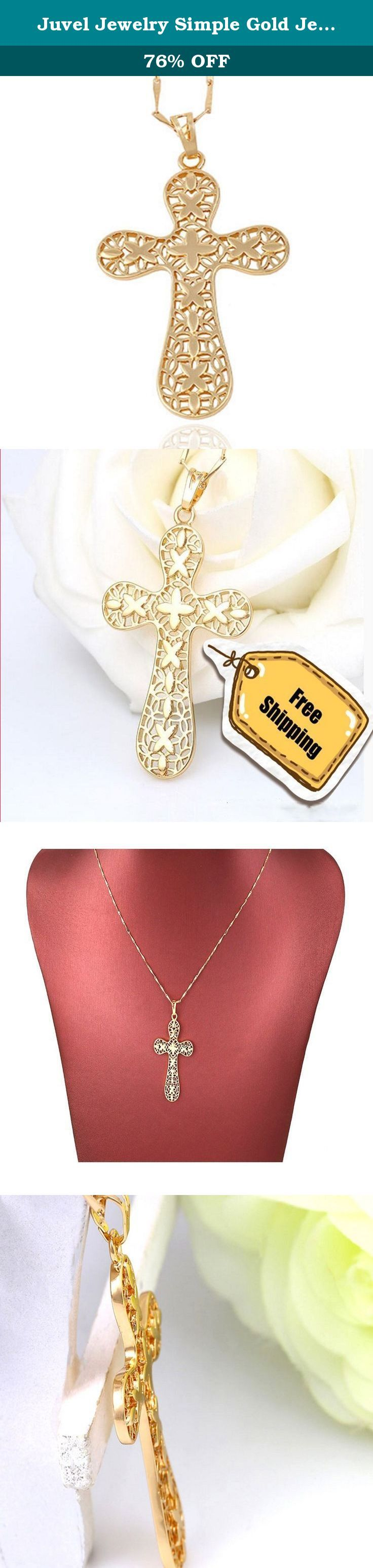 Juvel Jewelry Simple Gold Jewelry Religious Pendant + 18K Gold Plated Necklace With Fashion Design. Juvel Jewelry is selling 14K, 18K, 24K gold plated Rhodium Plated and 925 Sterling Silver jewelry for major business. Necklace & Pendant: Pendant necklace made of 18k gold, platinum plated, and pearl, various pendants for example pearl pendant, diamond, floral, animal, cross, letters. Earrings: Coming for Gorgeous and shiny, diamond sparkling. Hoop earring, stud earrings, tear drop earring...