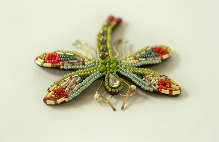 This beaded dragonfly is amazing.