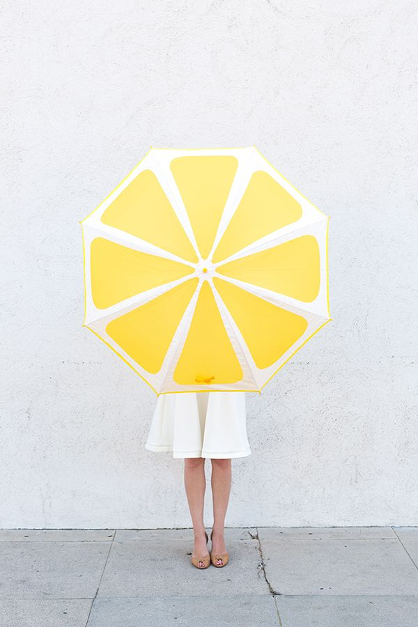 DIY Lemon Slice Umbrella.