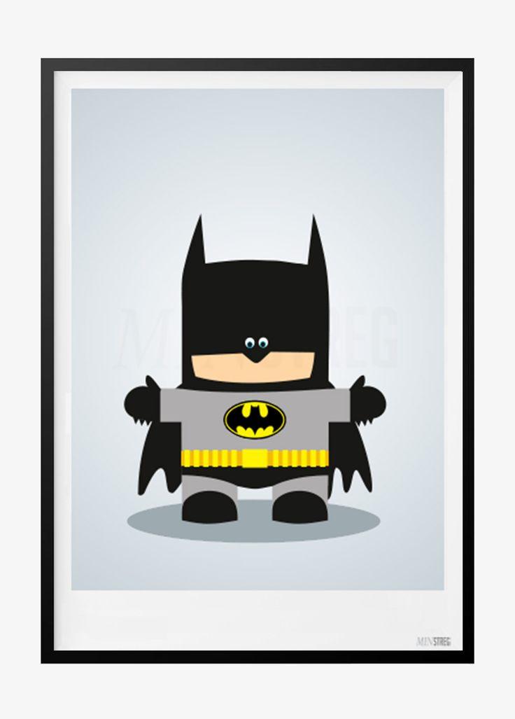Børneplakat med Batman
