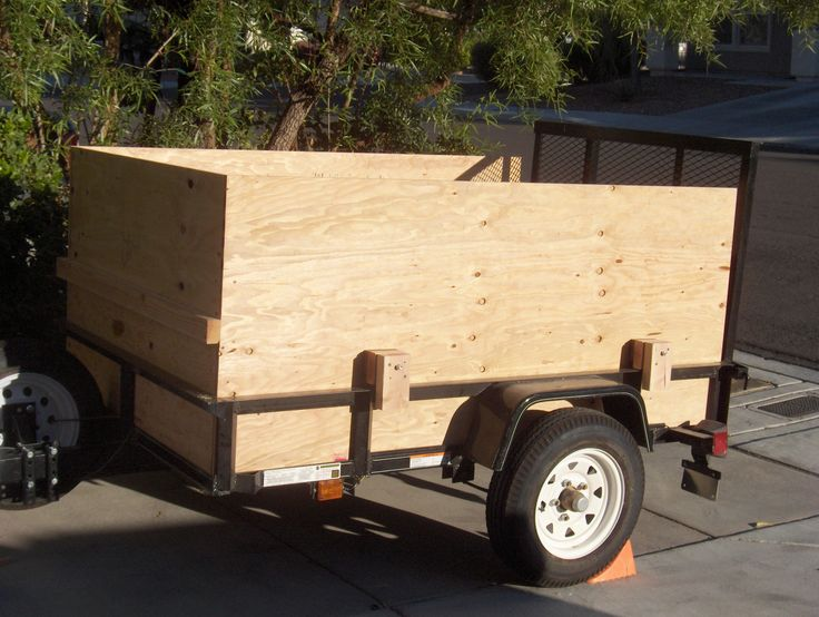 This is the beginning of the transformation of the trailer.