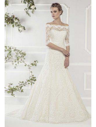Loving this Lace Gown with Sleeves from Ellis Bridals 11418  http://www.thecotswoldfrockshop.co.uk/wedding-dresses-c1/ellis-bridals-ellis-bridal-11418-ivory-lace-wedding-dress-with-lace-sleeves-size-14-p2152