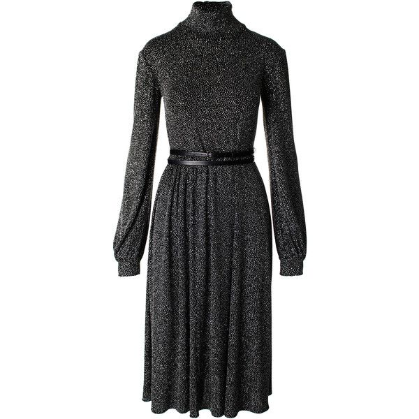 Black & Sparkly Silver Turtleneck Dress | Moda Operandi ($660) ❤ liked on Polyvore featuring dresses, sparkle dresses, fitted turtleneck, silver dresses, polo neck dress and turtleneck top