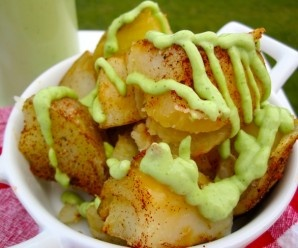 Colombian Food | Potatoes with Avocado Sauce
