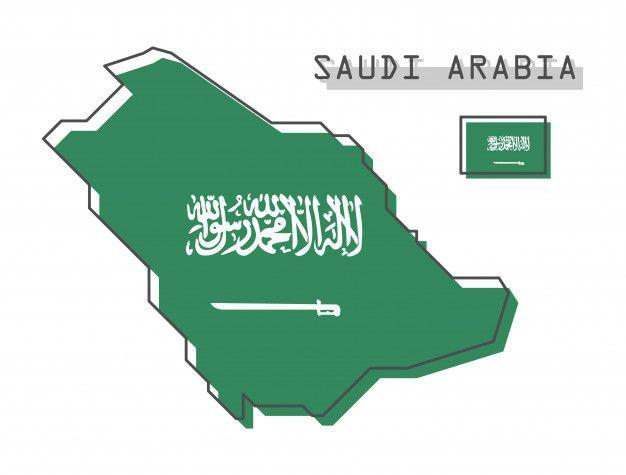 Saudi Arabia Map And Flag Diy Art Painting Paper Flower Patterns Camera Illustration