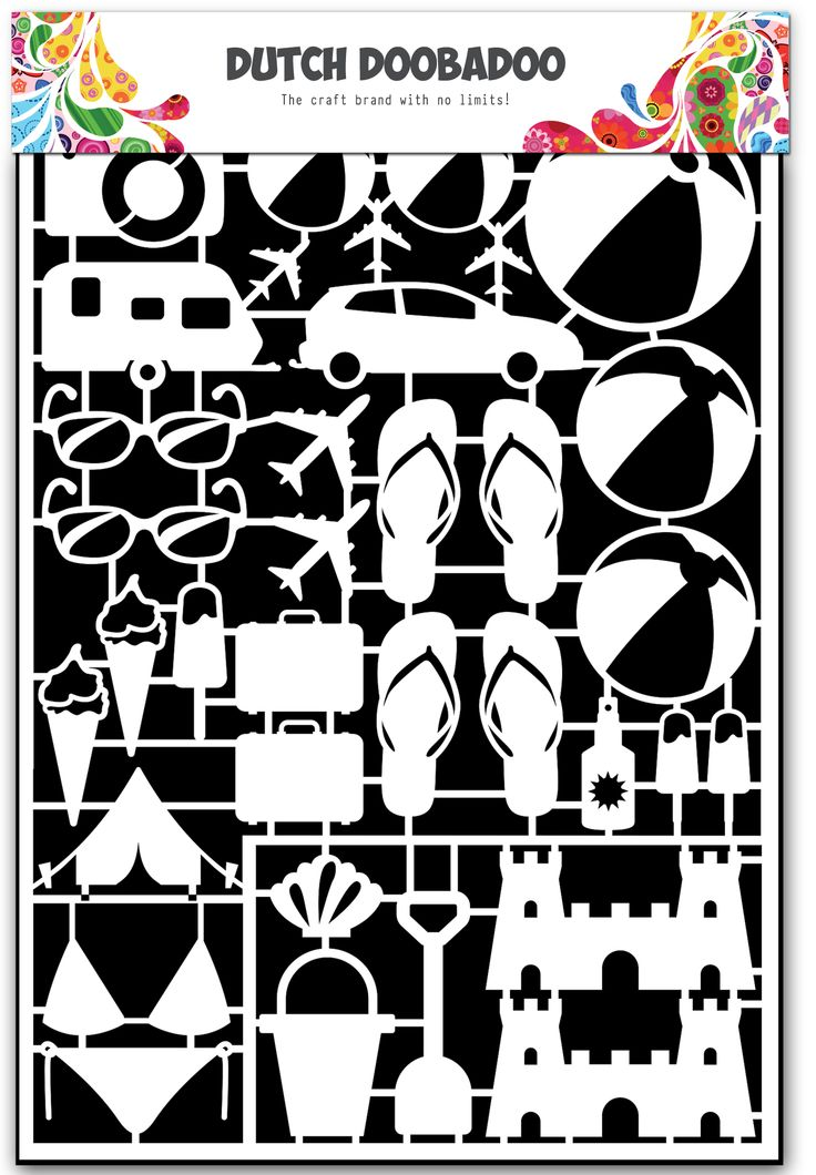 472.948.026 Dutch Doobadoo Paper Art Beach