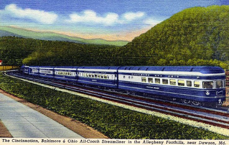"""The Cincinnatian, The Baltimore and Ohio Railroad's De Luxe All-Coach Passenger Streamliner"""