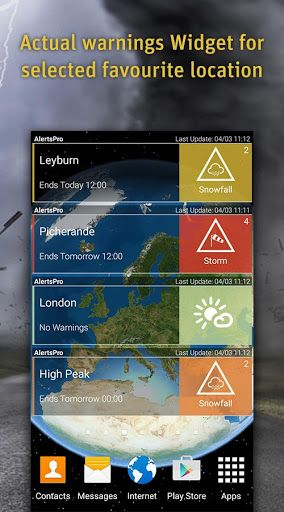AlertsPro - Severe Weather v2.3.4 [Premium]   AlertsPro - Severe Weather v2.3.4 [Premium]Requirements:4.0.3 and upOverview:Be warned and be prepared! AlertsPro is the innovative app from MeteoGroup which forewarns of severe weather conditions such as storms heavy rain thunderstorms hail heavy snow freezing rain and extreme temperatures.  Also behind the best selling WeatherPro app MeteoGroup is one of the few private weather companies to operate its own Severe Weather Centres  including the…