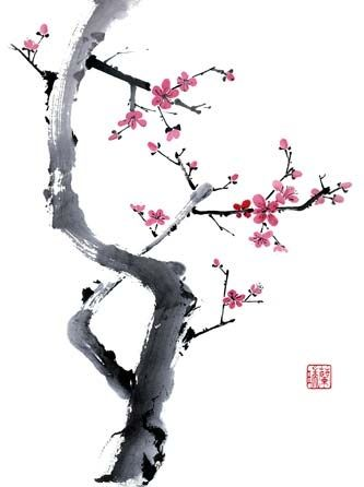 Art I absolutely love Chinese brush painting, especially cherry or plum blossoms art