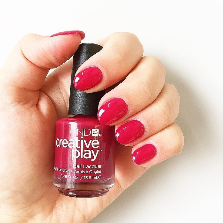 "@cndworld 's Creative Play nail polish in ""Berry Busy""  . . . . . #cnd #cndnails #nails #nailpolish #instanails #beauty #nailsofinstagram #manicure #pedicure #mani #pedi #nailsalon #spa #toronto #torontonails #torontonailsalon #etobicoke #facial #waxing #eyelashextensions #microblading #to #shellac"