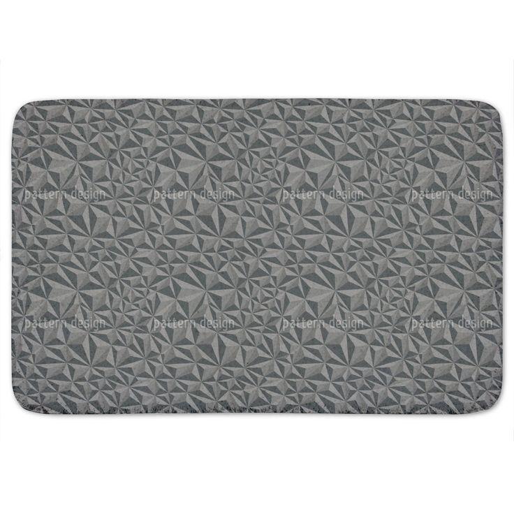 Uneekee Paper Geometry Dark Grey Bath Mat