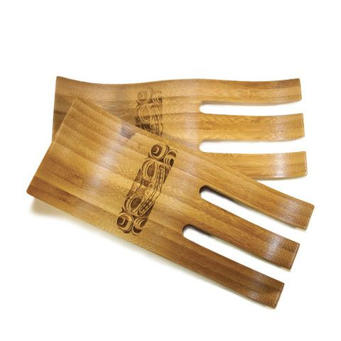 Bamboo Salad Hands. Design by Corey Moraes. Bear design. $18.00 CAD. Available at Northwestcoastgifts.com.