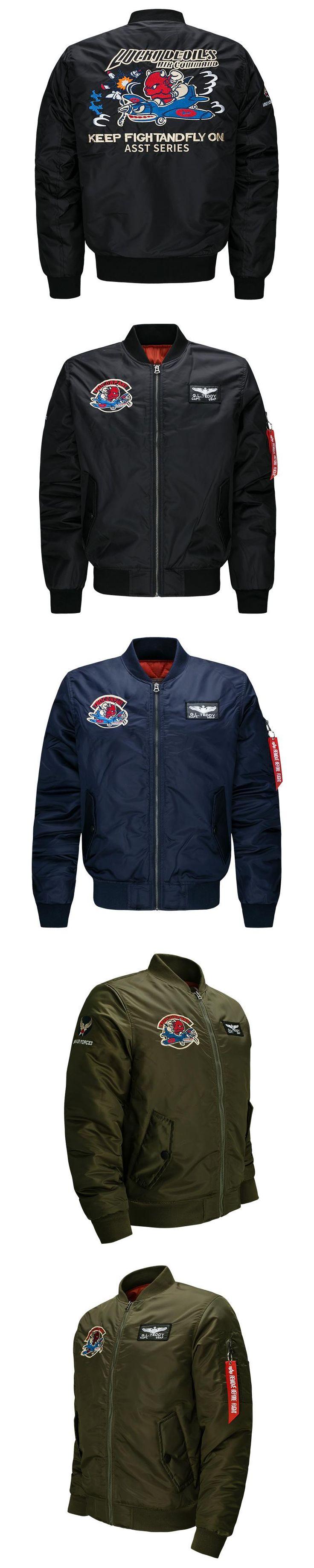 Bomber Jacket Men 2017 Ma-1 Army Green Flight Jacket Pilot Air Force Mens Ma1 Military motorcycle Jackets Coats