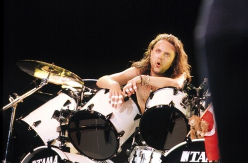 the baddest drummer ever...  lars ulrich