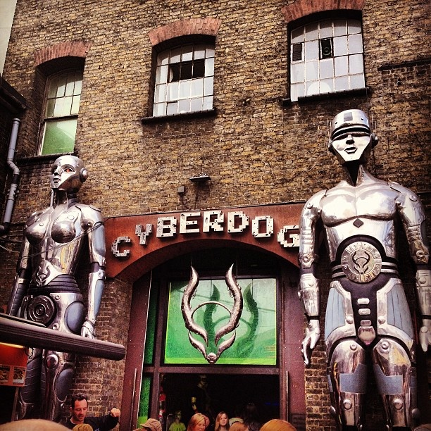 Cyber Dog, a crazy shop!  #london #cyberdog #shop #crazy #amazing #futuristic #travel #camden #town