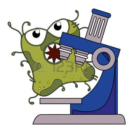 Germs and bacteria cartoon graphic design, vector illustration