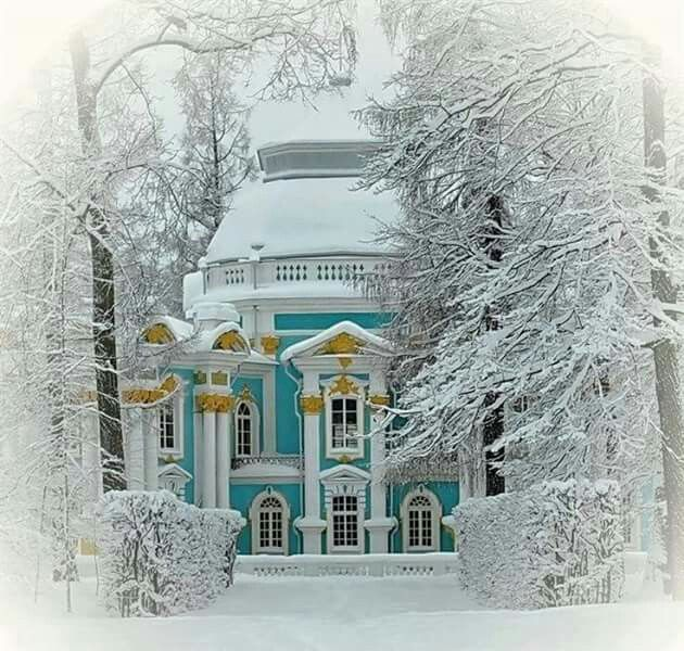 The Hermitage Pavilion on the grounds of Catherine's Palace, St. Petersburg, Russia