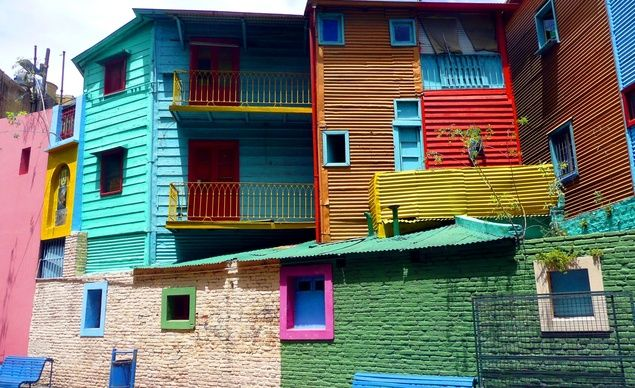 A caminito (little walkway) in La Boca, a neighborhood of Buenos Aires. (From: 10 Best Budget Destinations for 2014) #budgettravel #travel #argentina #buenosaires