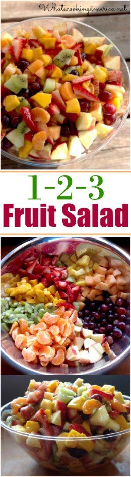 Tastes like fruit cocktail! Hard to stop eating!  | whatscookingamerica.net  |  #fruit #salad #easter #4thofjuly #mothersday
