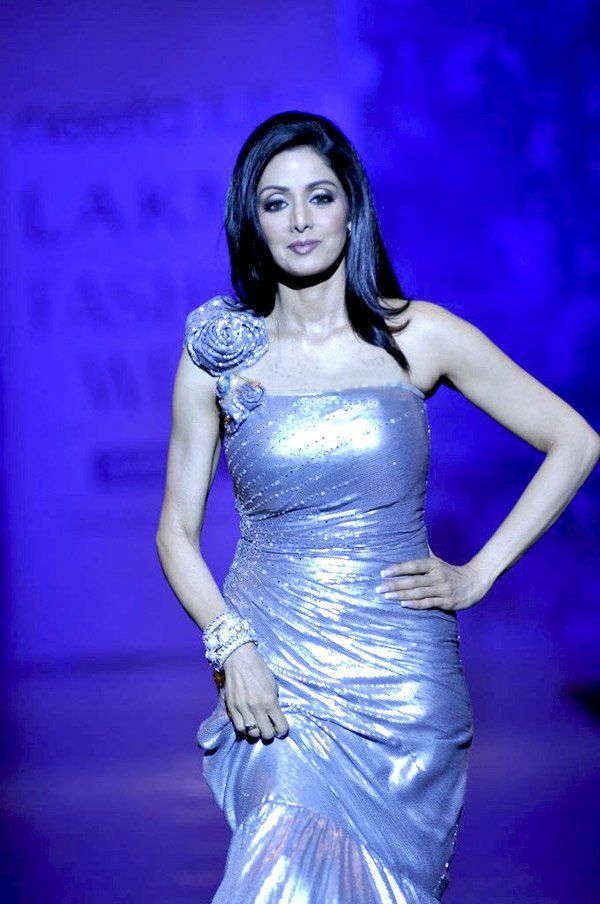 Sridevi Kapoor (born on 13 August 1963, known mononymously as Sridevi),[1] is an Indian film actress who has worked in Tamil, Telugu, Hindi, Malayalam and a few Kannada films.[2] She is cited as the First Female Superstar of Hindi Cinema,[3][4] one of the longest reigning successful leading ladies[5] and one of the greatest and most influential actresses of Bollywood.[6][7]