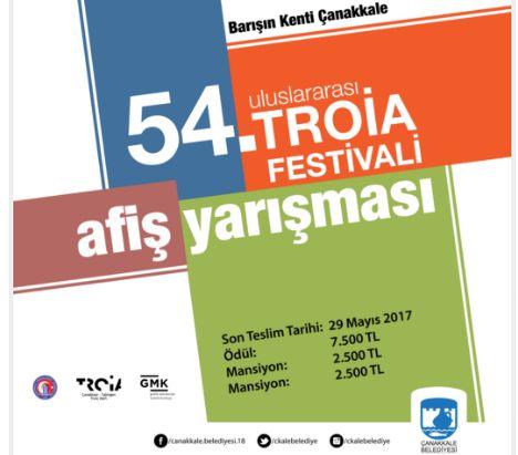 Bu yıl 54.'sü düzenlenecek olan Uluslararası Troia Festivaline hayat verecek olan tasarımı belirleyecek Afiş Yarışması için başvurular başladı.