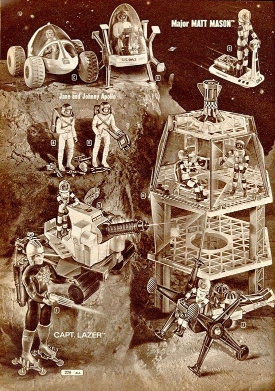 Montgomery Ward S Page Of Major Matt Mason Toys 1968 Scrubbles