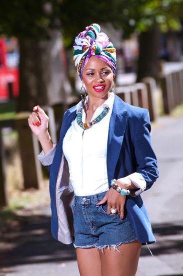 How To Tie A Stylish African Head Wrap ~African fashion, Ankara, Kente, kitenge, African women dresses, African prints, African men's fashion, Nigerian style, Ghanaian fashion ~DKK
