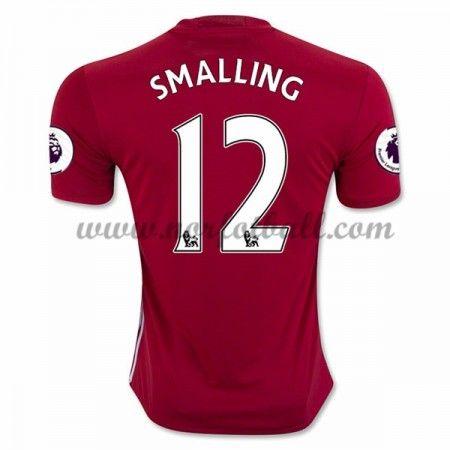 Billige Fotballdrakter Manchester United 2016-17 Smalling 12 Hjemme Draktsett Kortermet