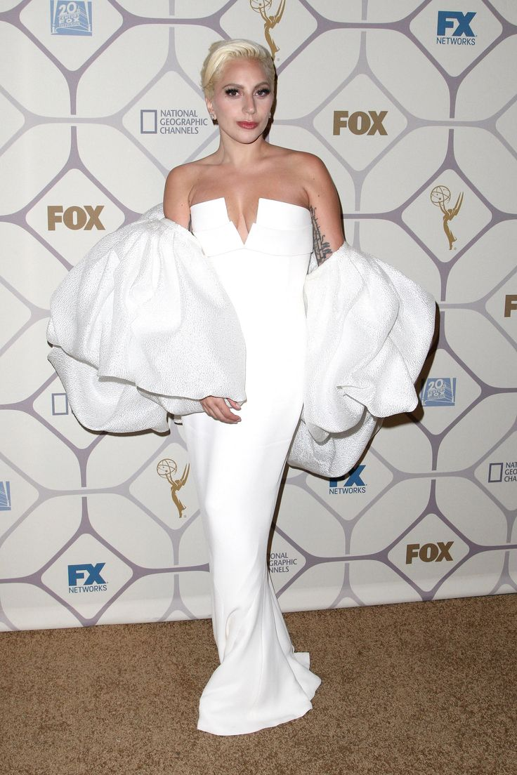 Sept. 2015 - Lady Gaga in Brandon Maxwell at the Emmy's