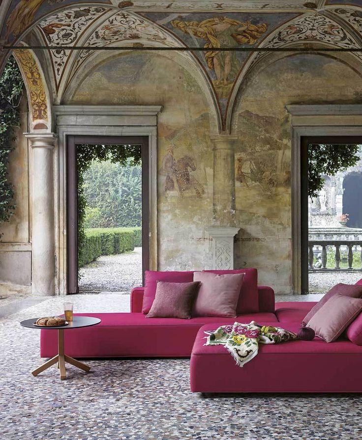Roda   Sofa   Pink   Dandy Collection   Outdoor