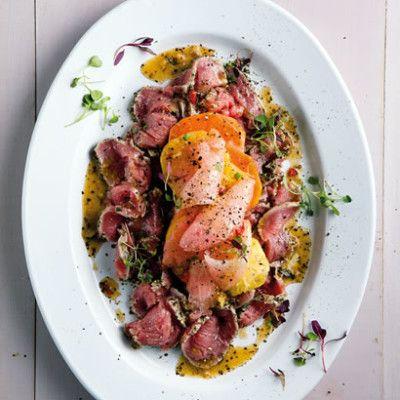Taste Mag   Beef carpaccio salad @ http://taste.co.za/recipes/beef-carpaccio-salad/