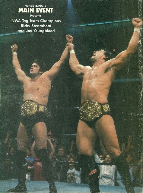 NWA World Tag Team Champions, Jay Youngblood and Ricky Steamboat