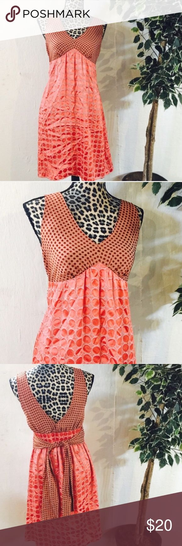 "⚡️SALE⚡️ The Limited Peach Polka Dot Silk Dress Made From Silk And Rayon, This Beautiful Dress For Any Occasion!! Dress Is Approx 36 1/2"" In Length And 15"" Across The Bust (Or 30"" Total Inches Around). Size Women's 4, Can Fit A Bit Larger. Excellent Condition Like New The Limited Dresses Midi"