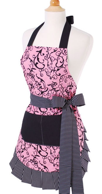 this apronAprons Pattern, Style, Cooking, Kitchens Gadgets, Chic Pink, Pink Aprons, Crafts, Flirty Aprons, Pink Black