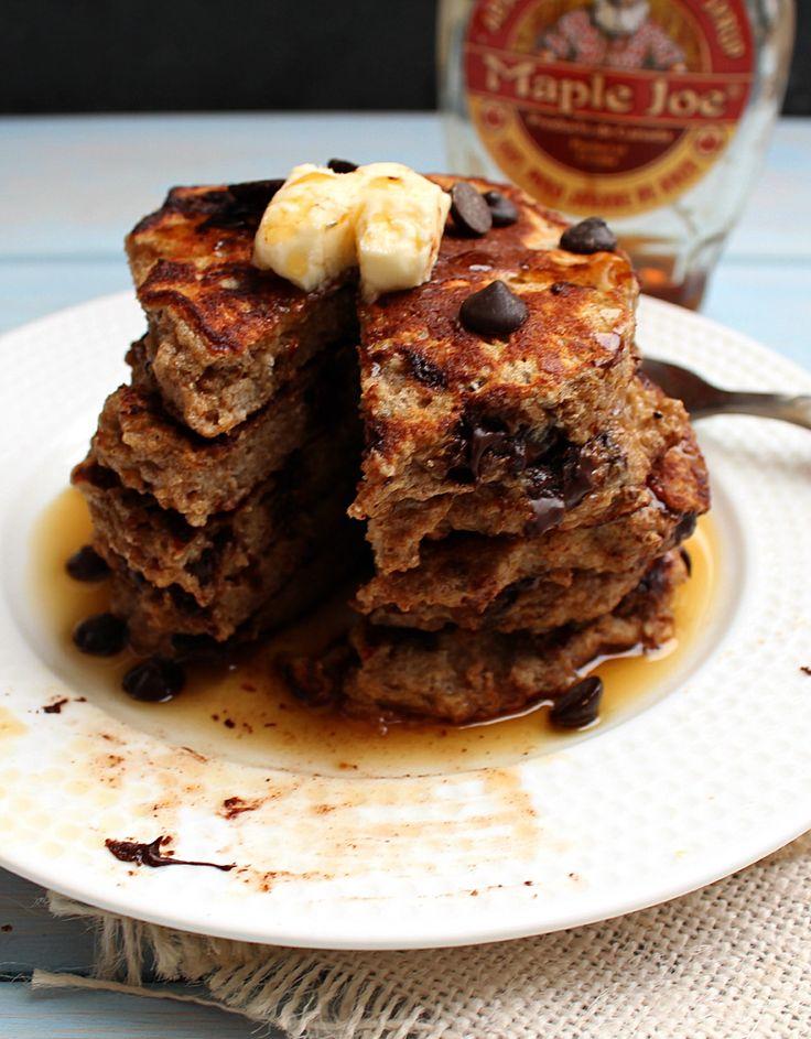 Chocolate Chip Cookie Dough Pancakes | honey & figs